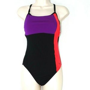 Speedo One Piece Swimsuit Women Size 4 Color Block